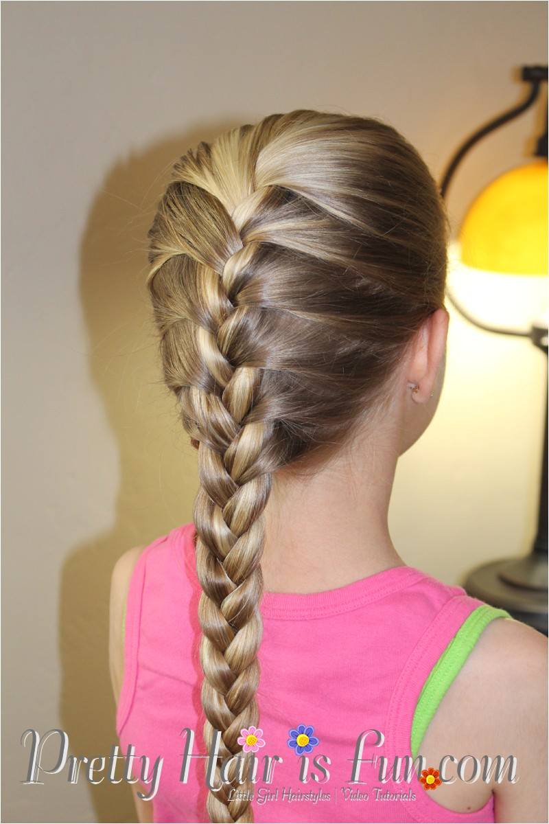 little girls hairstyles how to do a french braid video tutorial