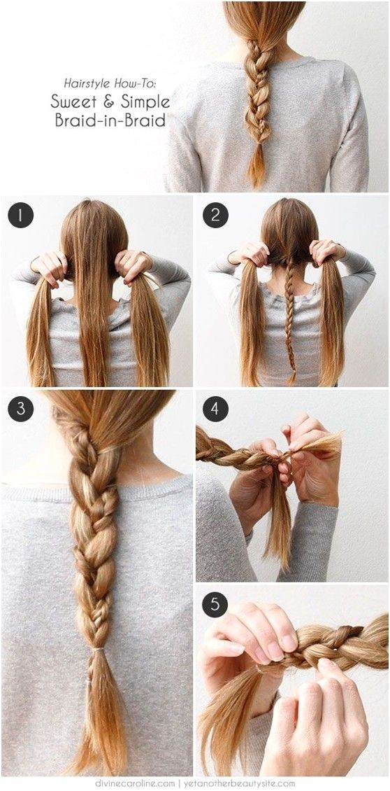 cute and easy braided hairstyle tutorials