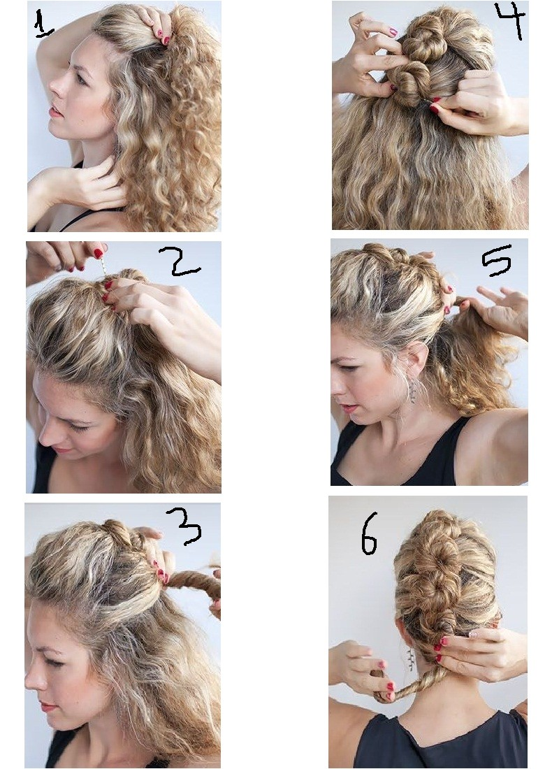 can style curly hair easy steps home