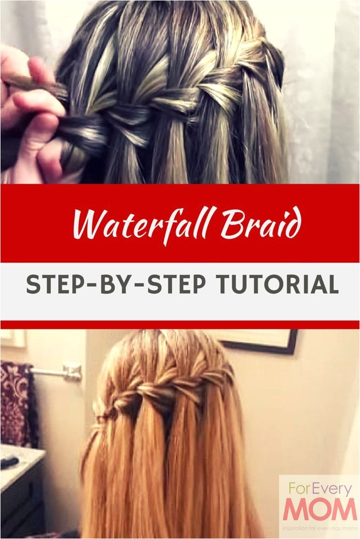 Waterfall braids tutorial easy how to and it s the prettiest of all the braided hairstyles