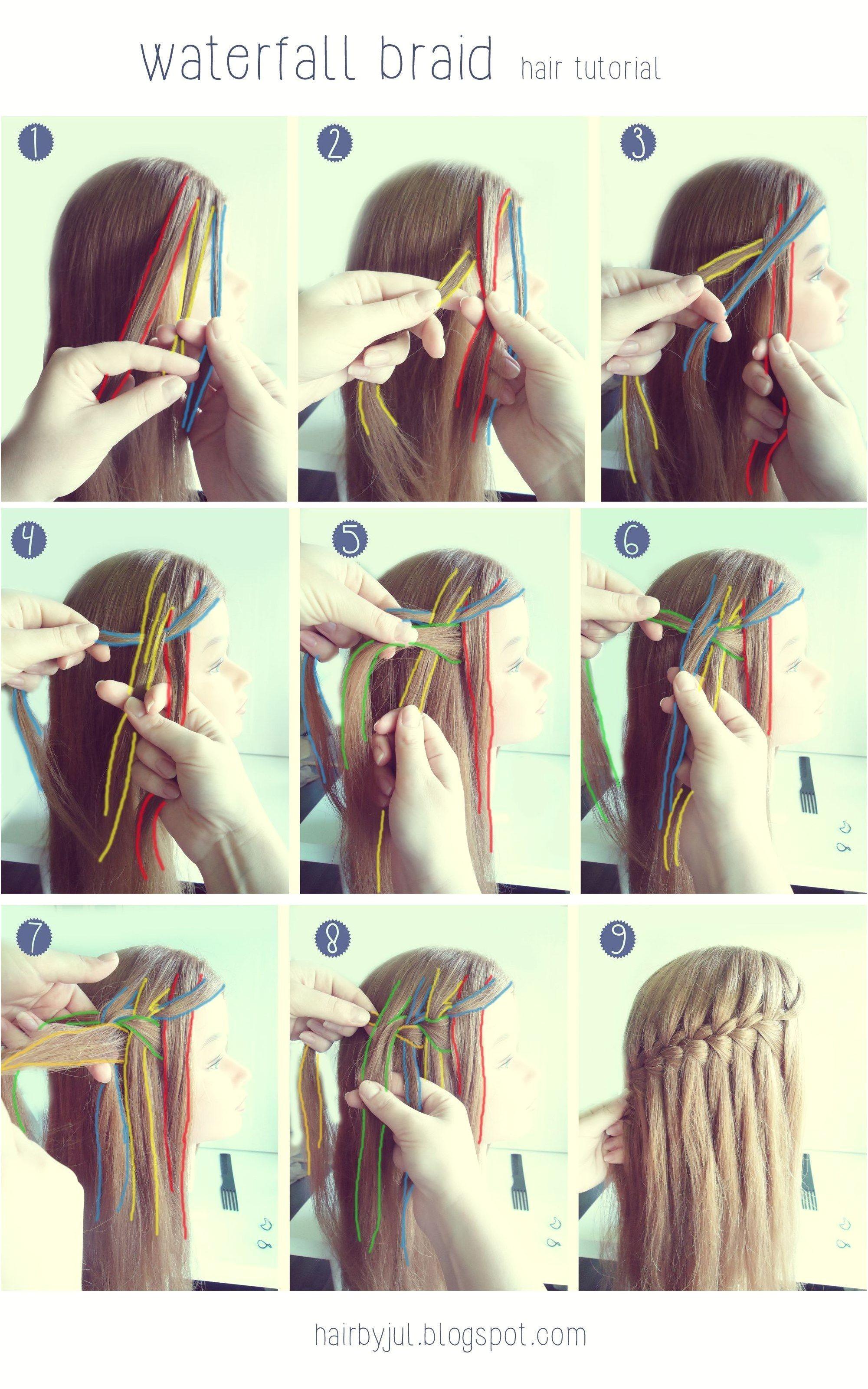 waterfall braid hair tutorial HairBraiding BraidTutorials click for more