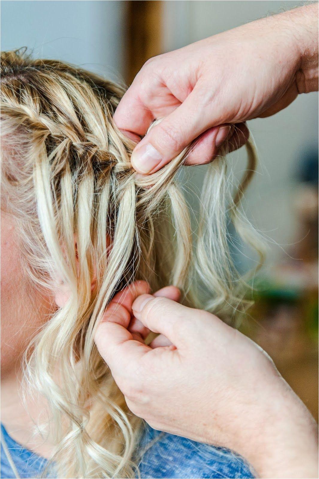 Waterfall Braid Plait Hair Tutorial Fordham Hair Design Wedding Bridal