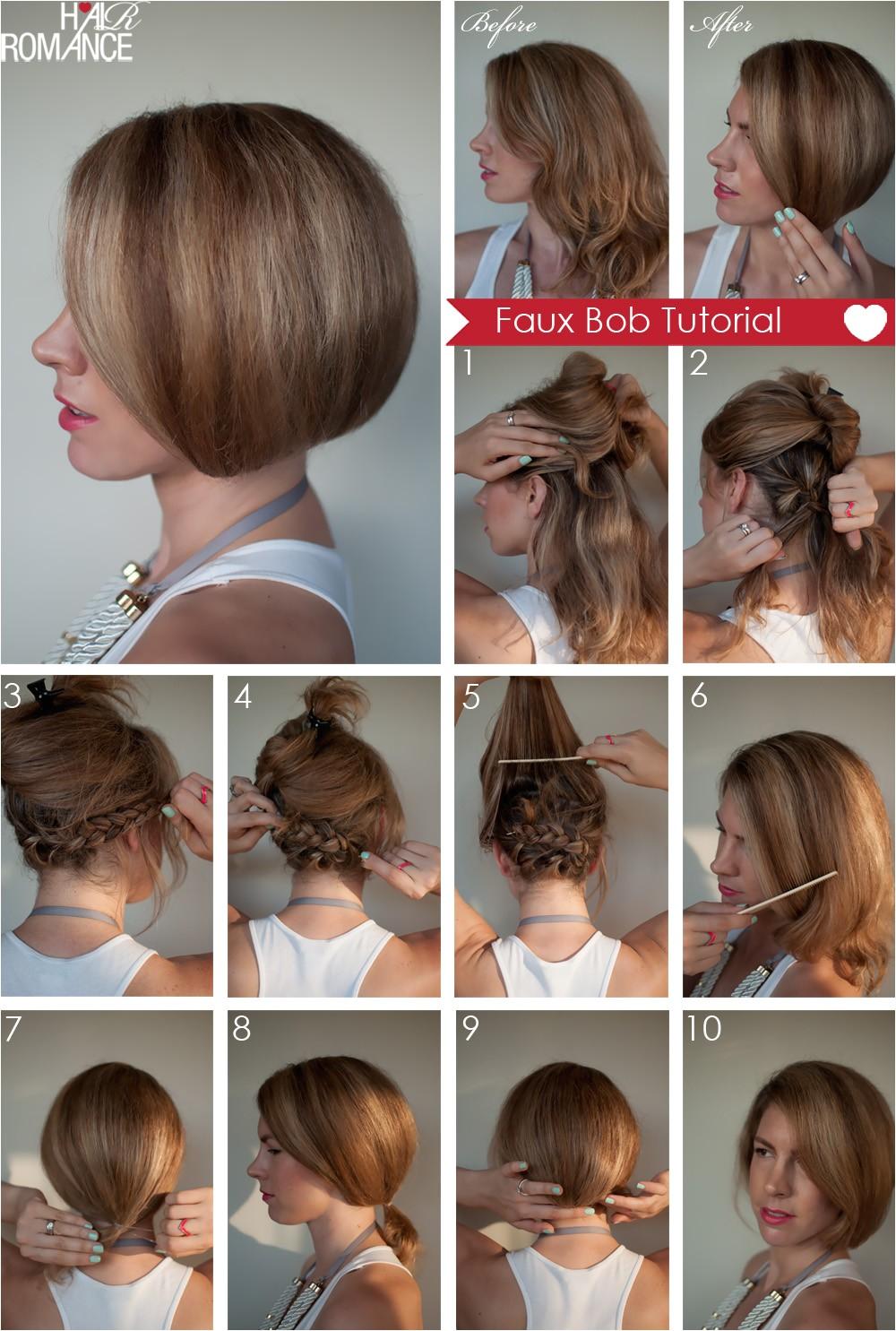 hair tutorial how to create a faux bob