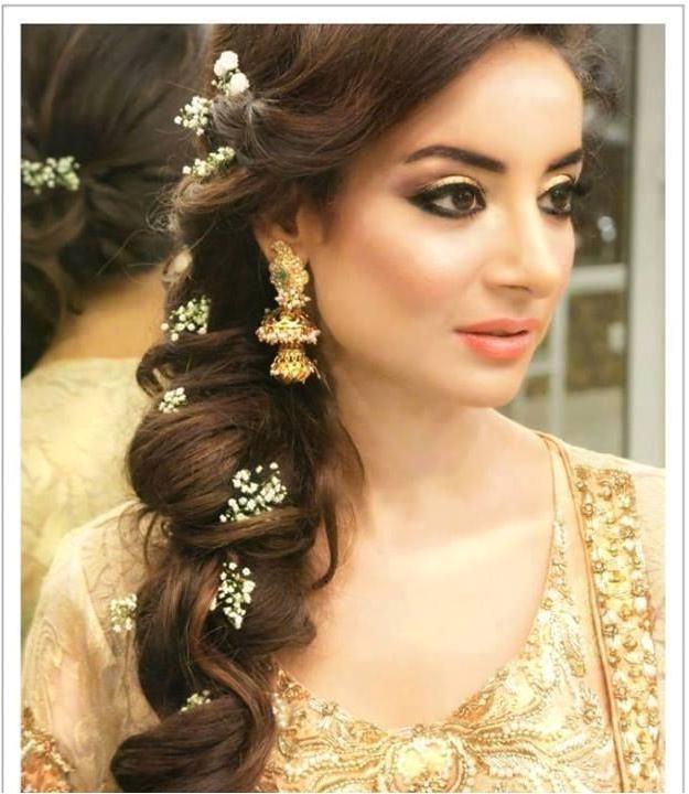 indian wedding long hairstyles
