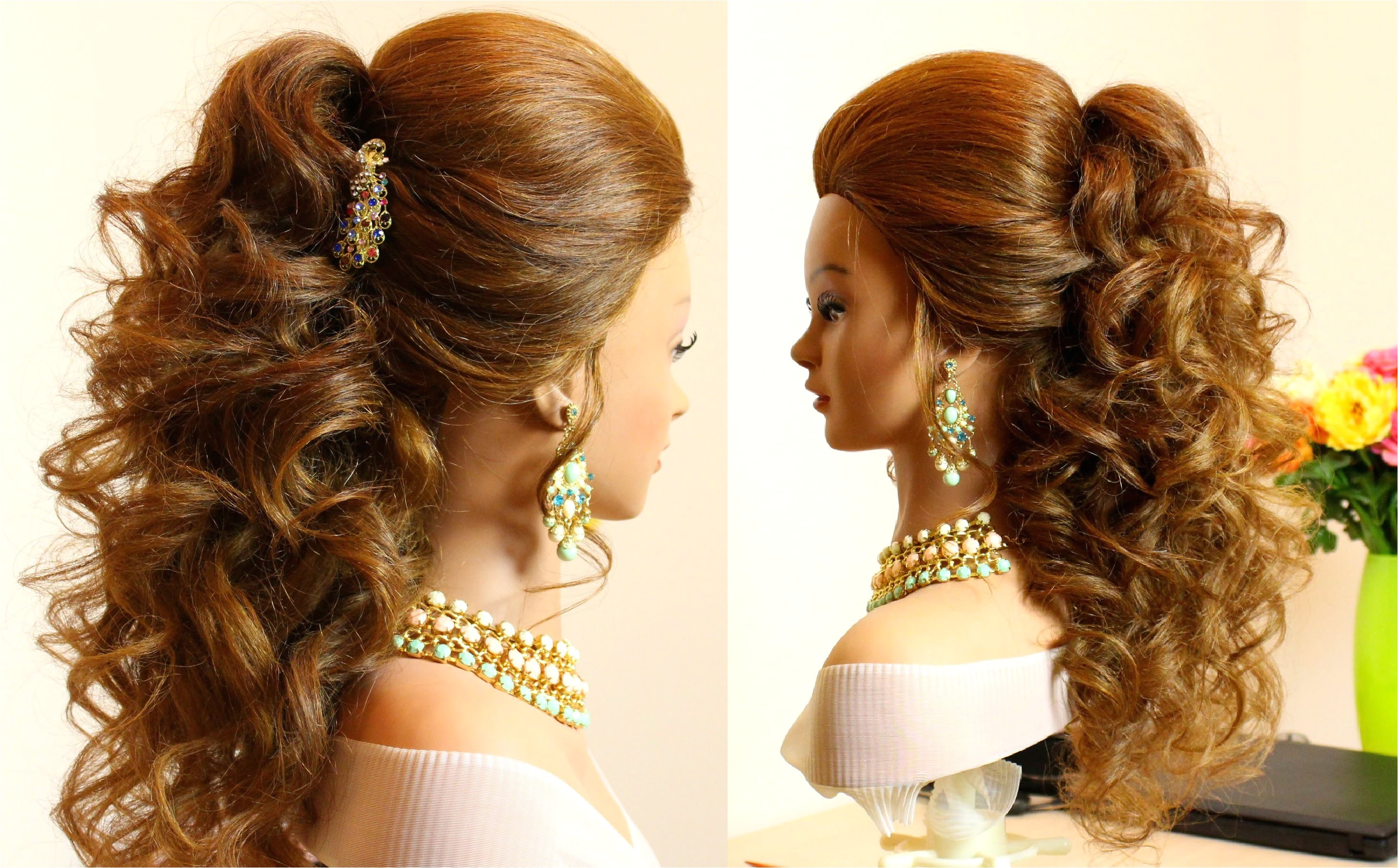 indian bridal hairstyles curly hair