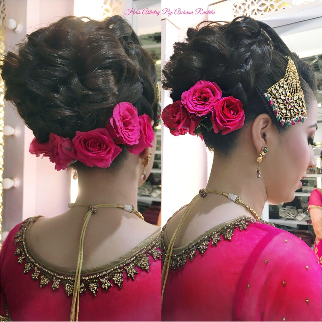 I love bridal buns Pink theme❤ ❤ ❤ ❤ Hair Artistry