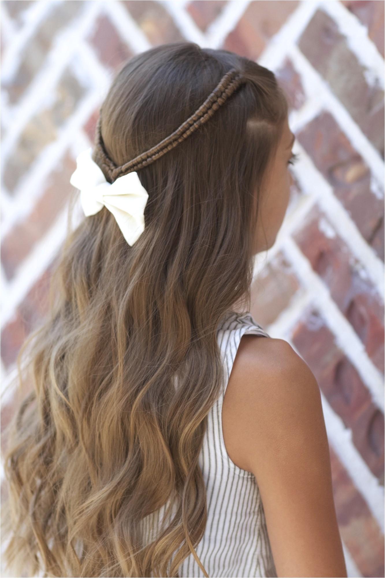 infinity braid tieback back to school hairstyles