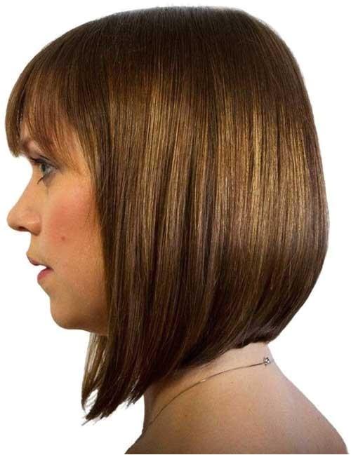 long aline haircut with bangs