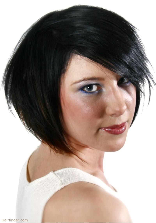 bob haircut with jagged edges