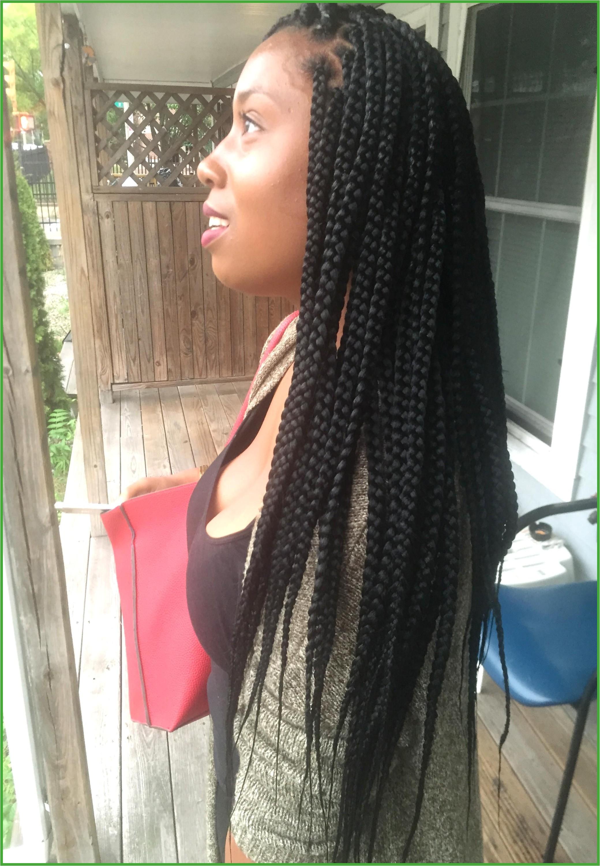 Jumbo Braid Hairstyles Medium Waist Length Box Braids 2448—3264 Hair