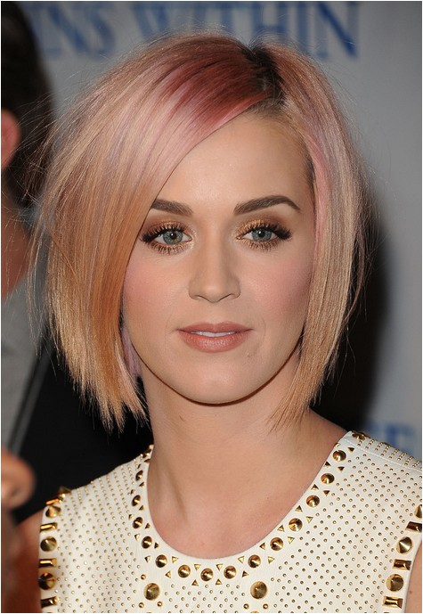 Katy Perry Bob Haircut Katy Perry Short Pink Bob Hairstyle Short Straight Haircut