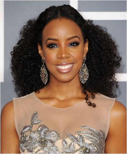 kelly rowland long hairstyles 2013