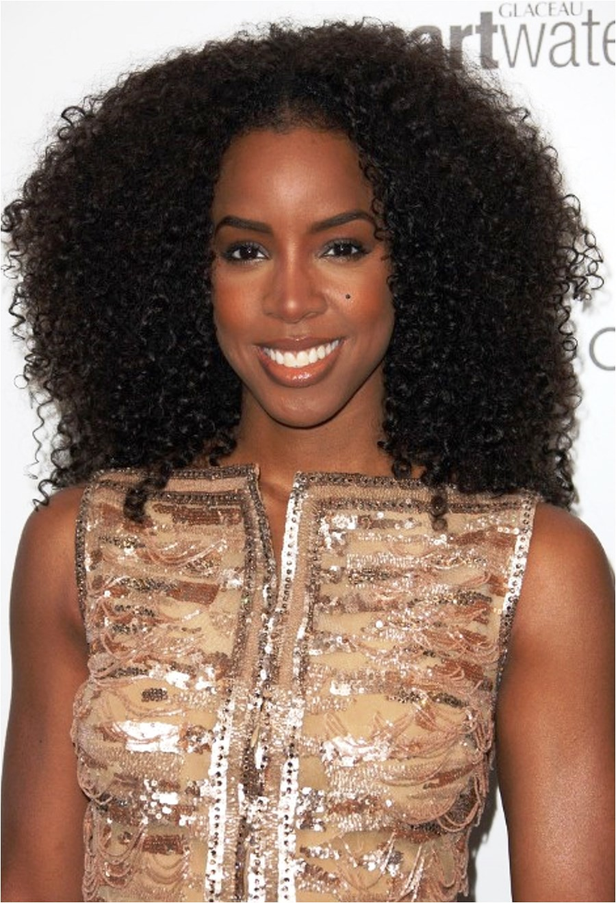 kelly rowland long curly black hairstyles 2