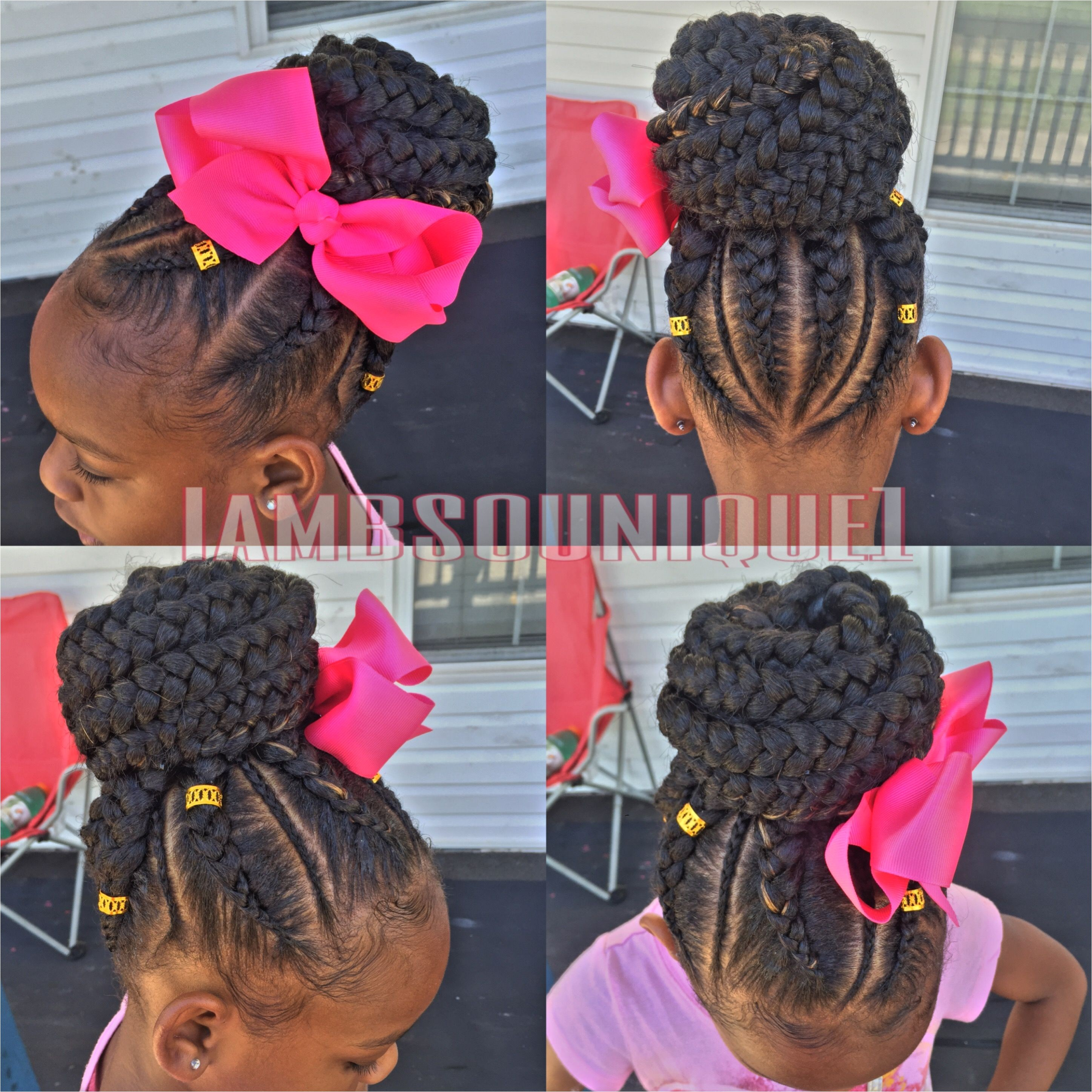 Kids feed in braids feed in updos