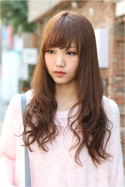 cute korean hairstyles for girls with long hair