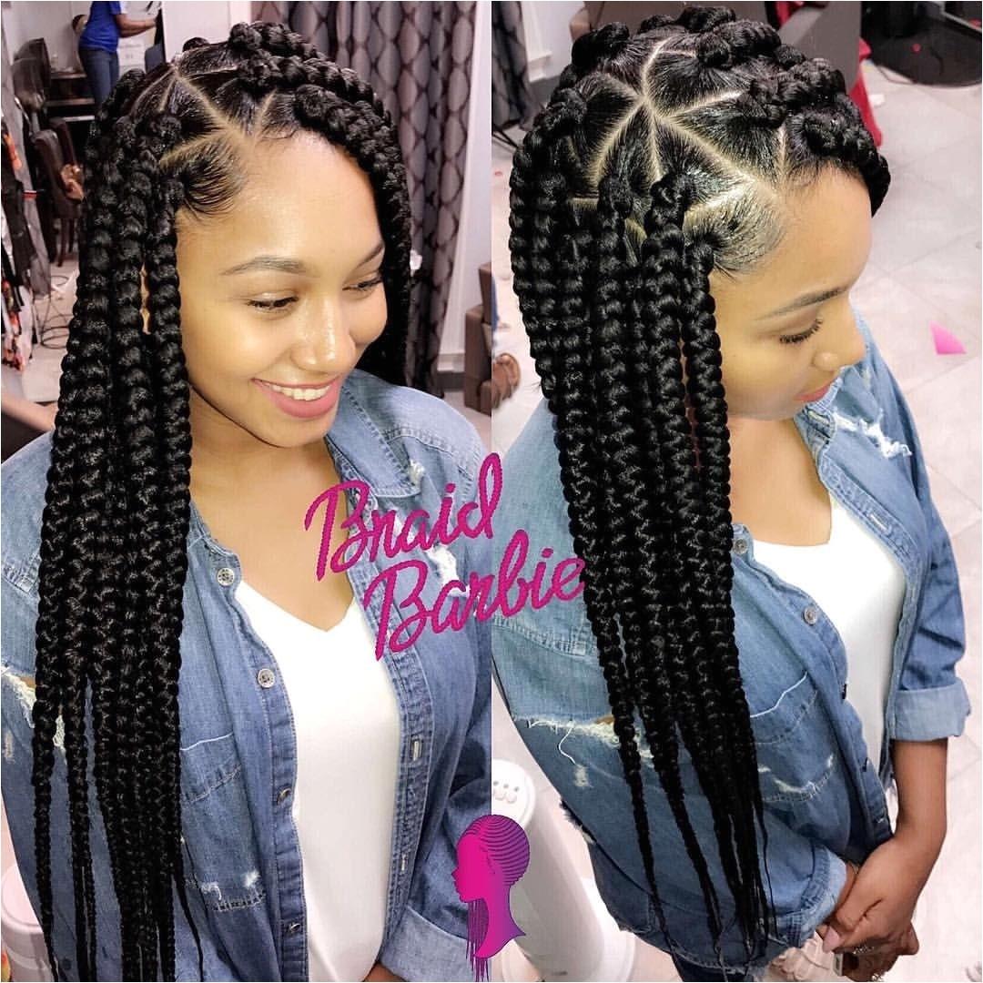 Big Box Braids Hairstyles Best Big Braided Hairstyles Styles & Ideas 2018 Sperr