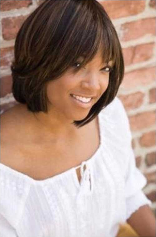 black short layered haircut