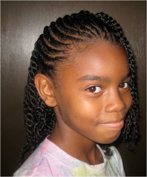 pretty long braided hairstyles for little black girls