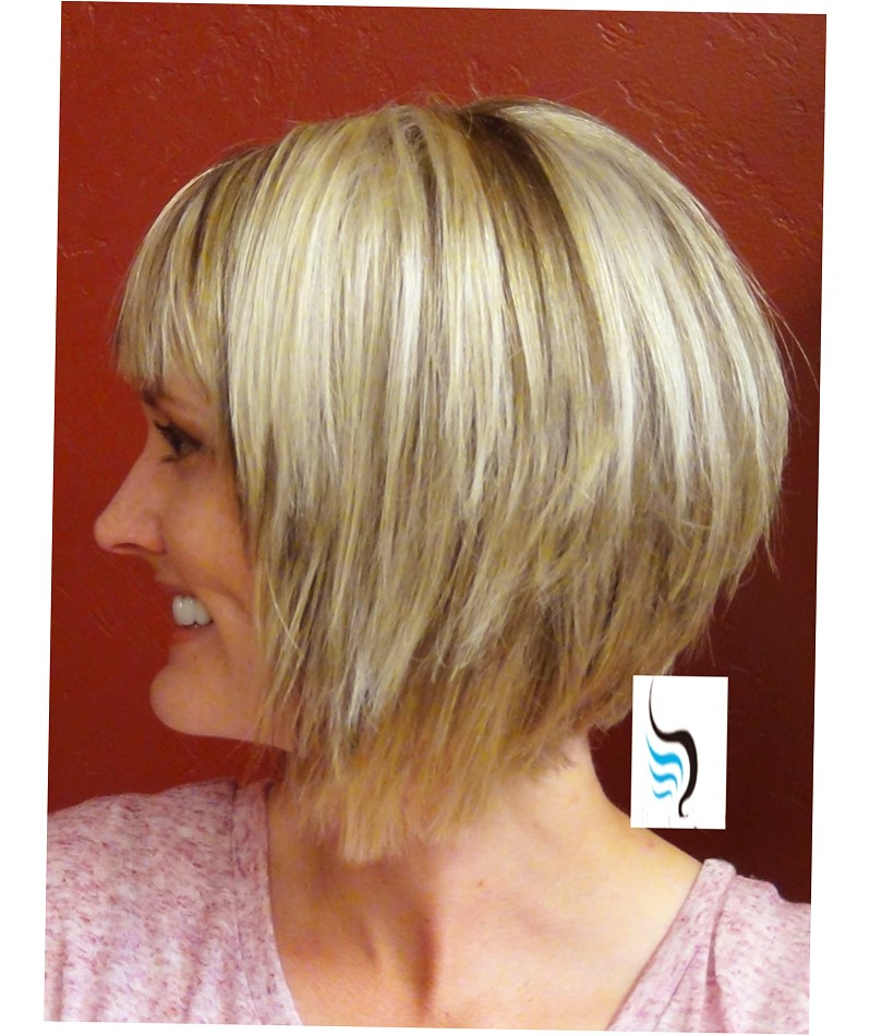 a line bob with side bangs hairtstyles