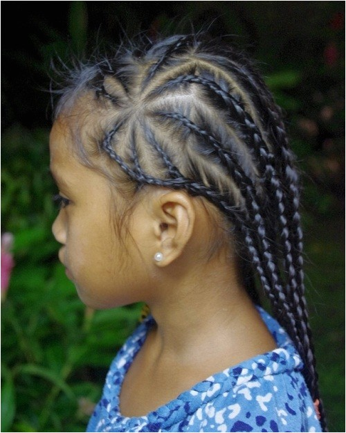 cute little black girl hairstyles with braids 2014