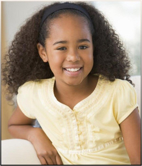 cute little black girl hairstyles for curly hair