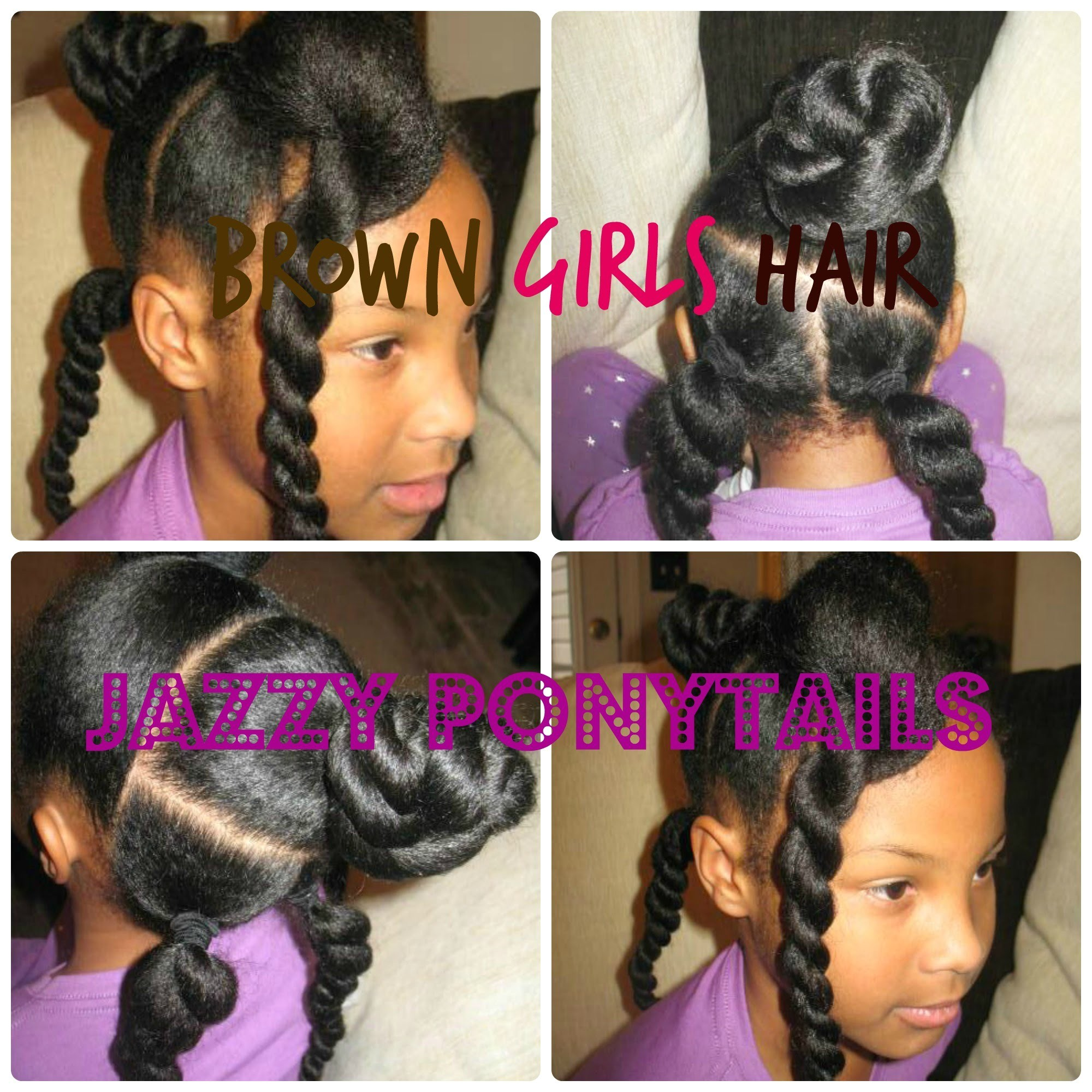 Natural Jazzy Ponytail Hairstyle For Girls