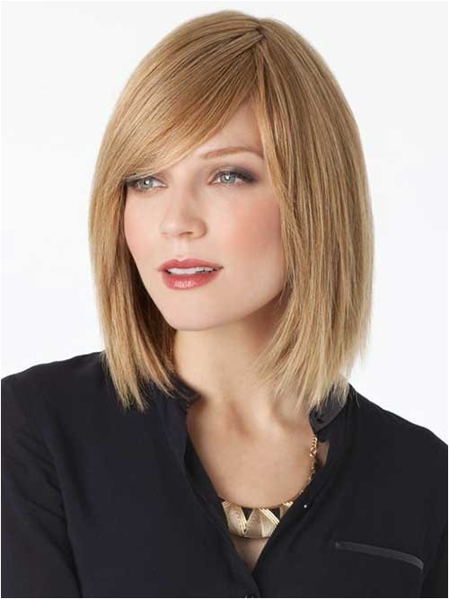 15 latest long bob with side swept bangs