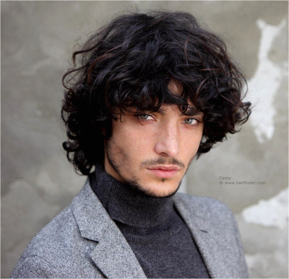 men hairstyles long curly