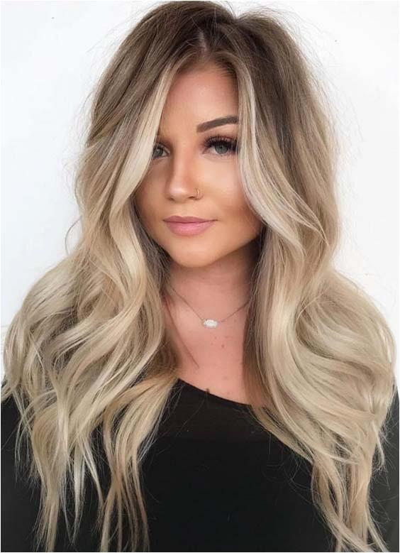 balayage hair colors for long hair 2018