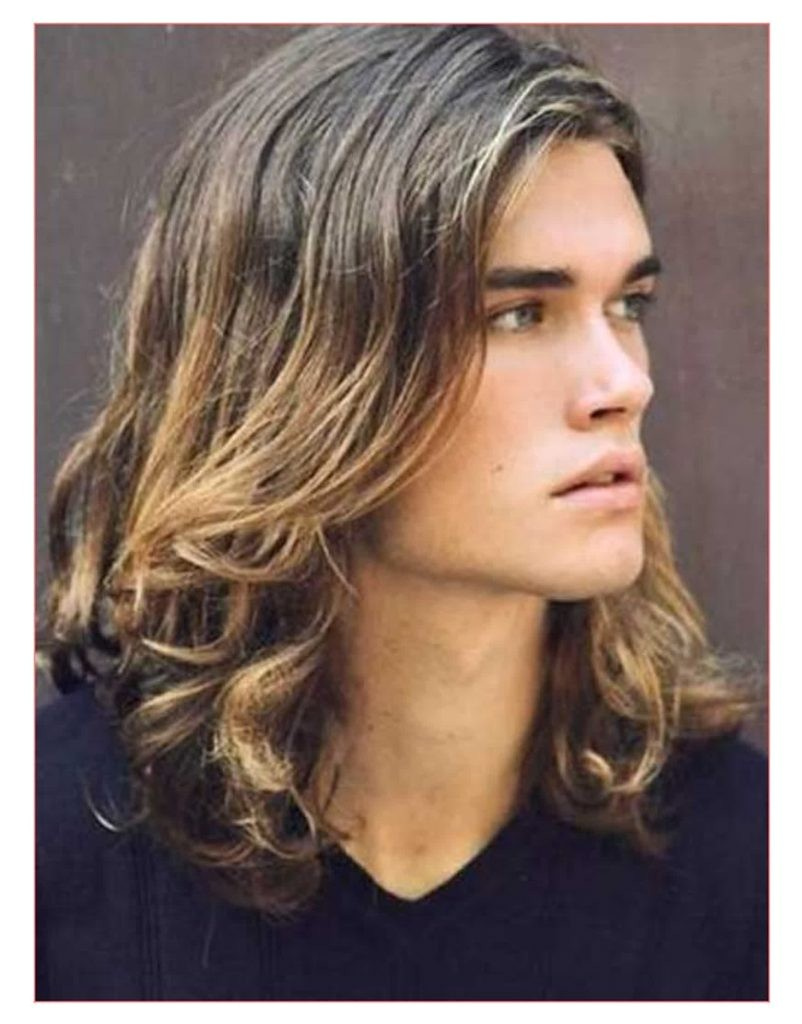 mens hairstyles for wavy hair thick and curly long hair for guys1