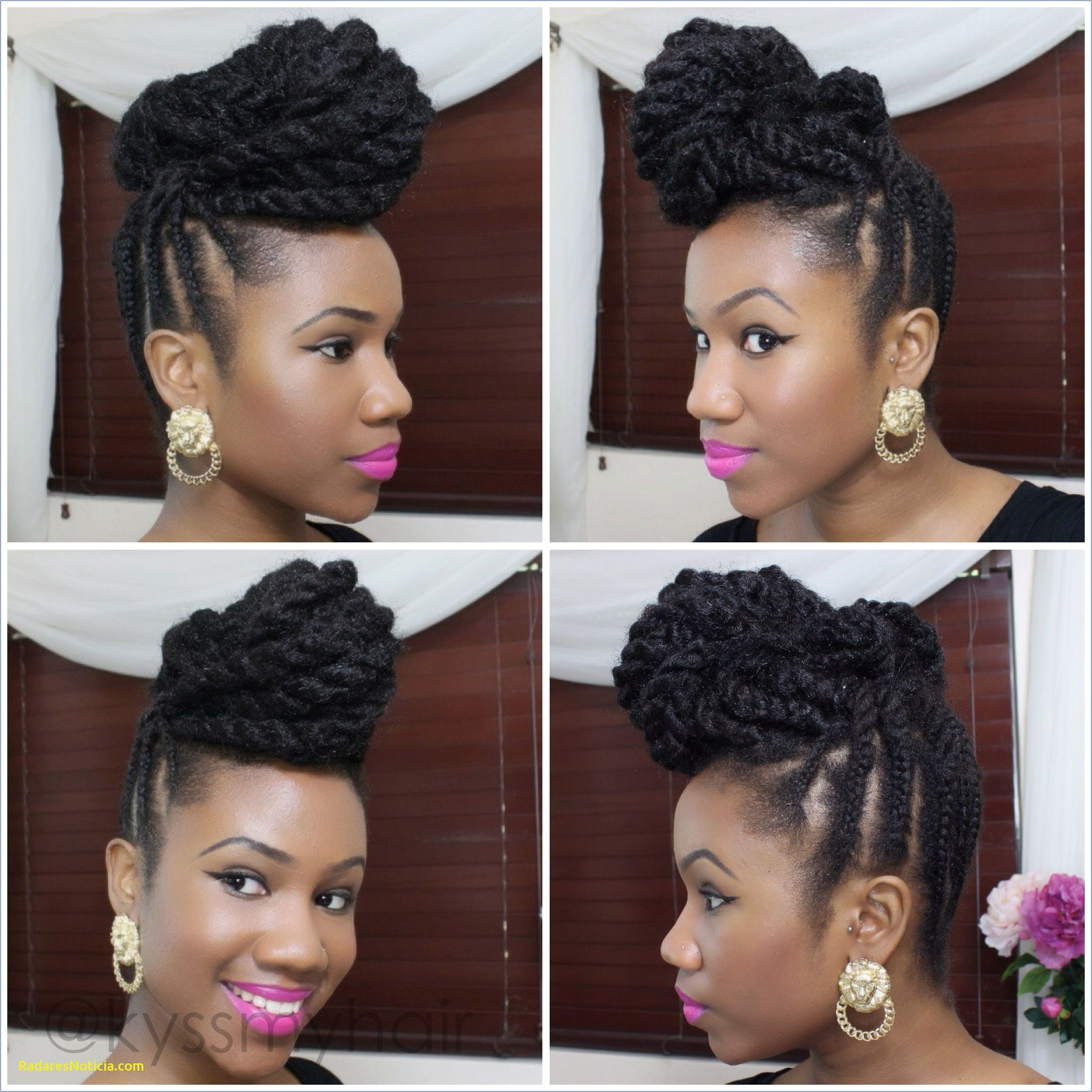 Braided Updo Hairstyles Braided Updo Natural Hair Using Marley Hair Kyss My Hair