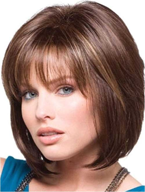 15 medium layered bob with bangs