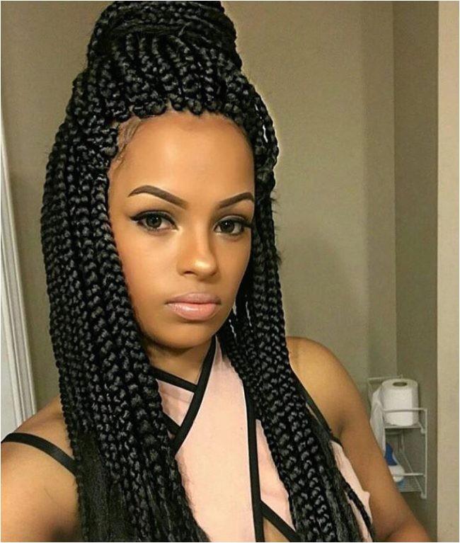 best medium box braids
