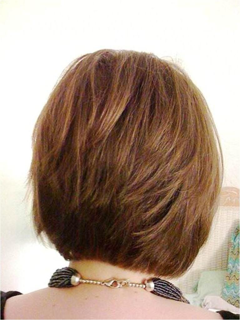 medium stacked hairstyle