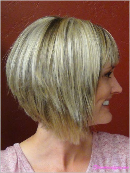 medium to short stacked haircuts