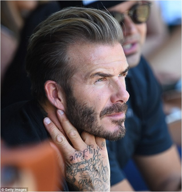 David Beckham reveals latest addition vast tattoo collection leaves indoor cycling class