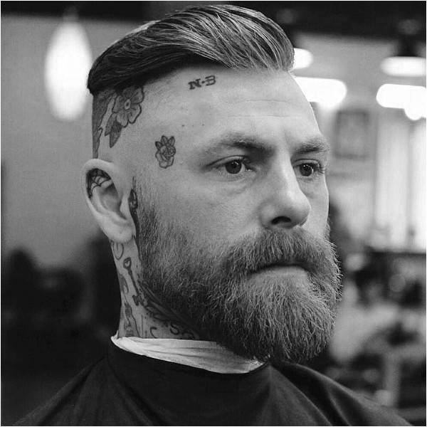 slicked back hair for men