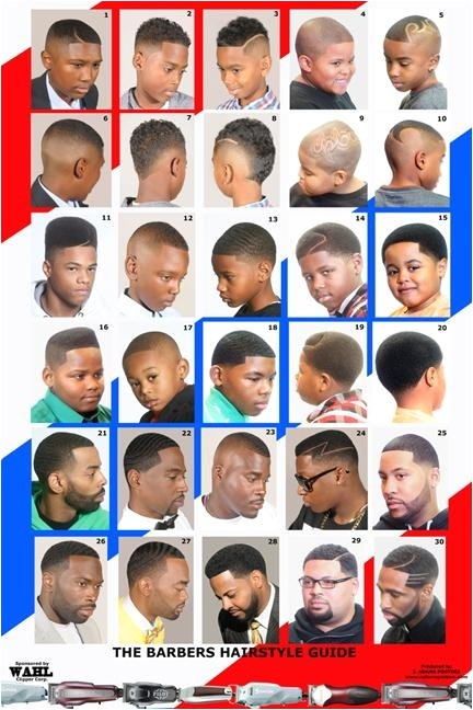 Men S Haircut Style Guide Barber Poster African American Black Male 2014bbm
