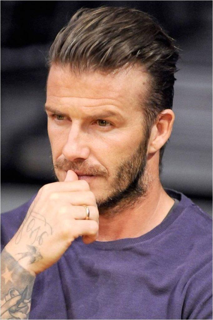 david beckham side part hairstyle