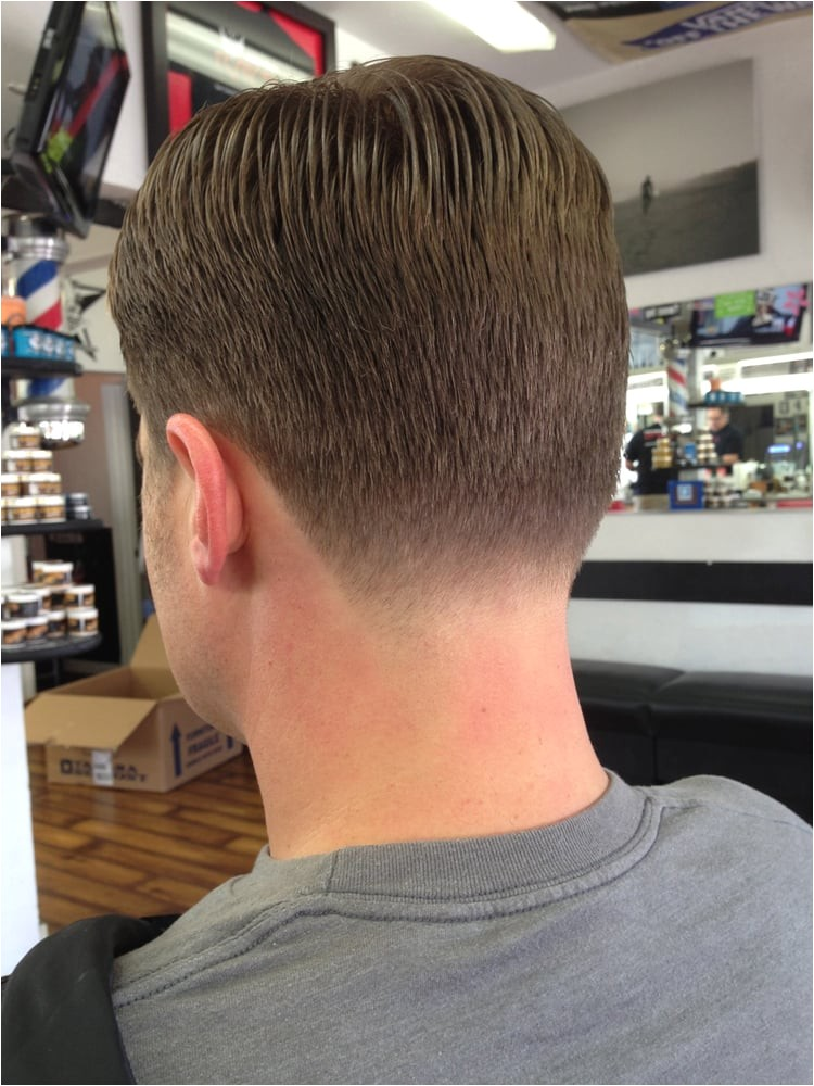 Mens Haircut Neckline Classic Mens Haircut with A Tapered Neckline Yelp