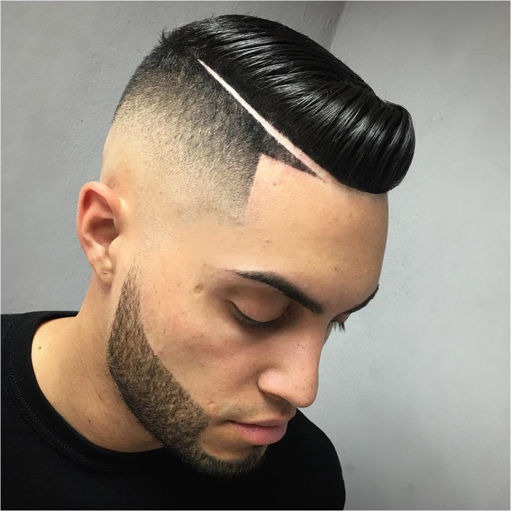 line hairstyle for men
