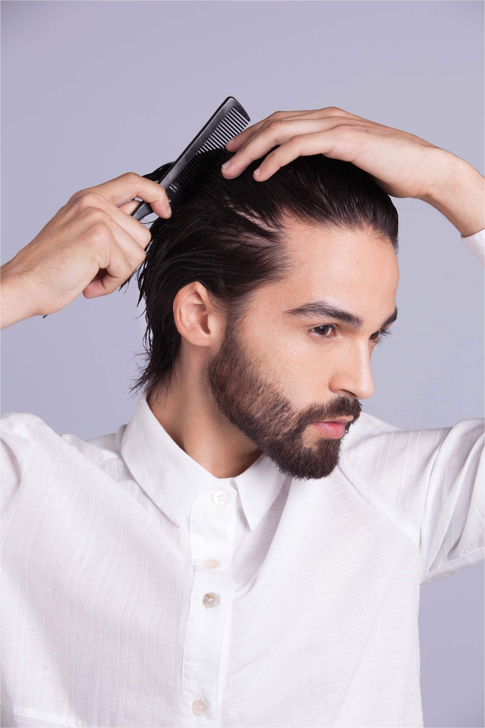men hairstyle without gel