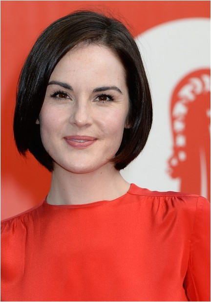 michelle dockery stacked bob hairstyle