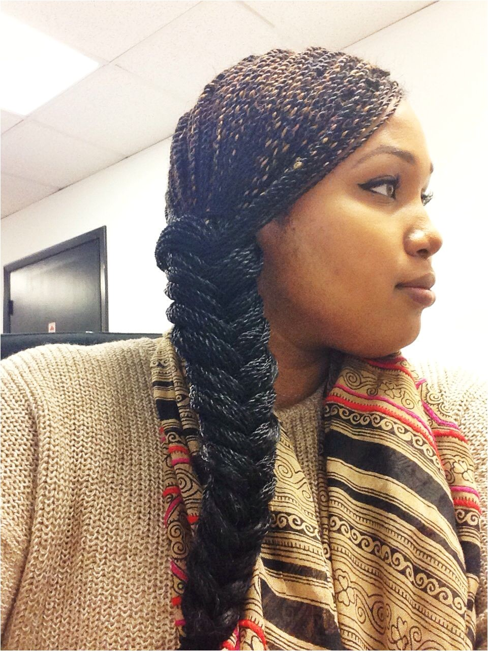 Senegalese Twists Fishtail braid Protective styles Micro twists