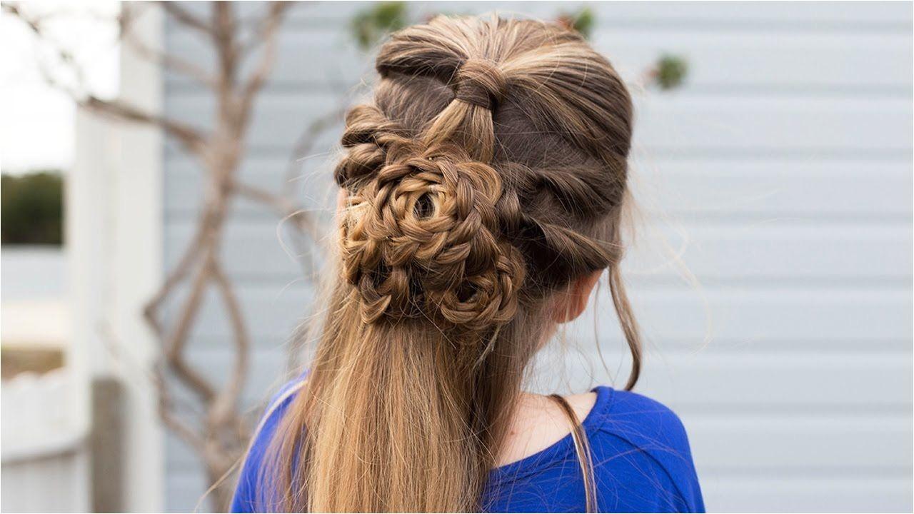 Flower Half Up Hairstyle Tutorial