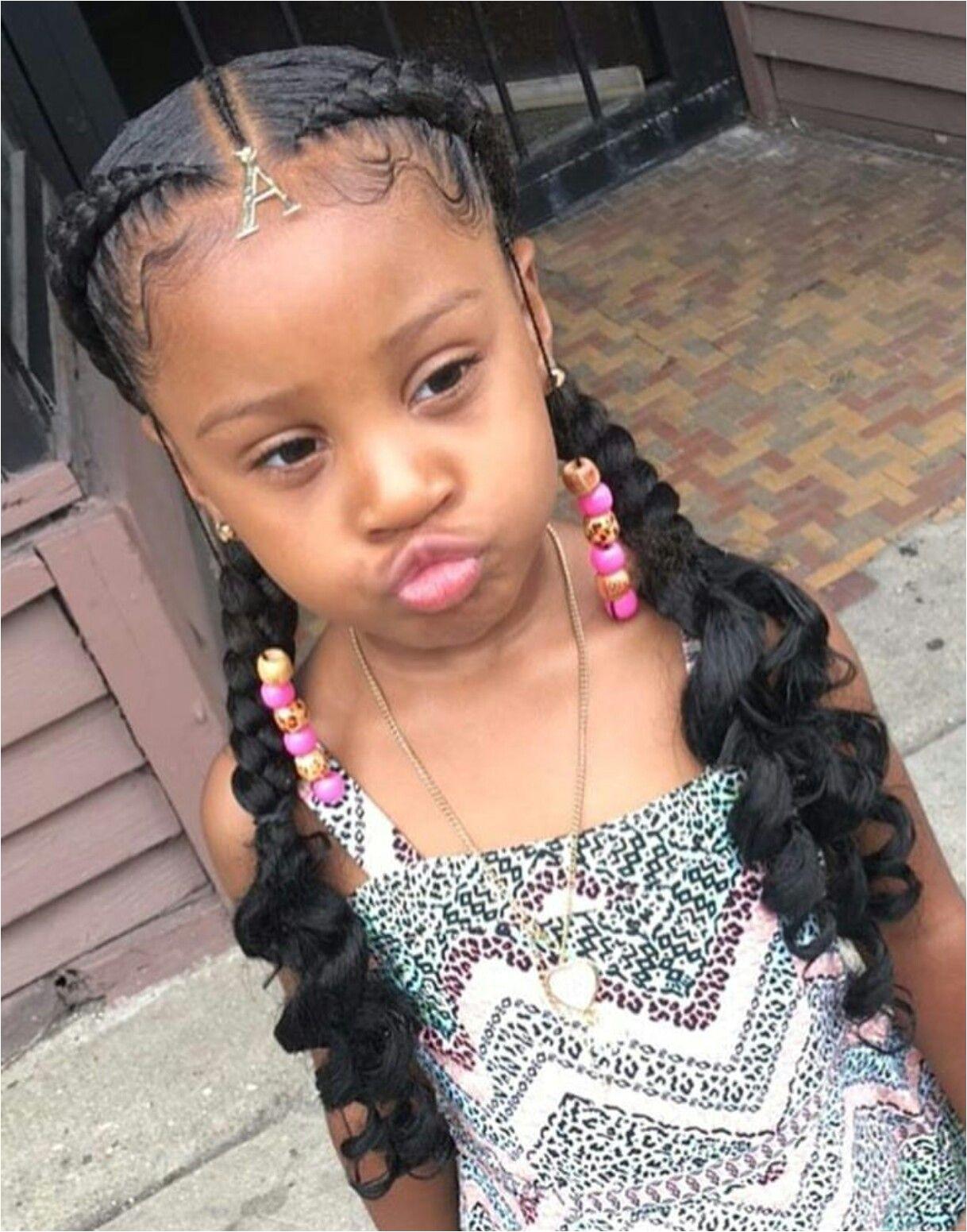 Little Girl Braids pigtails