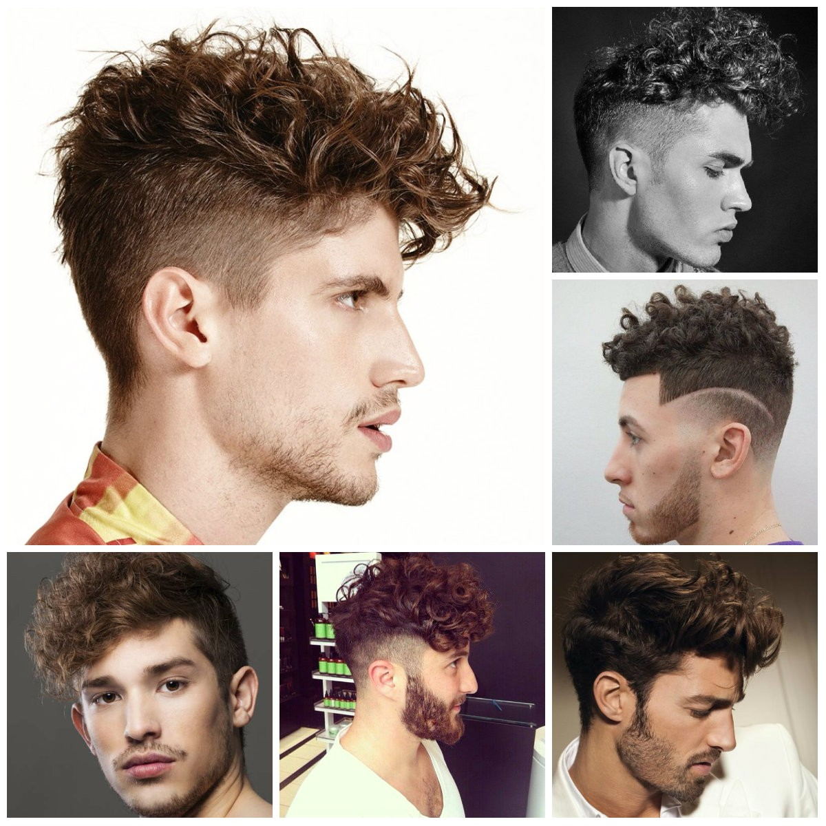 2016 mens trendy undercut hairstyles for curly hair