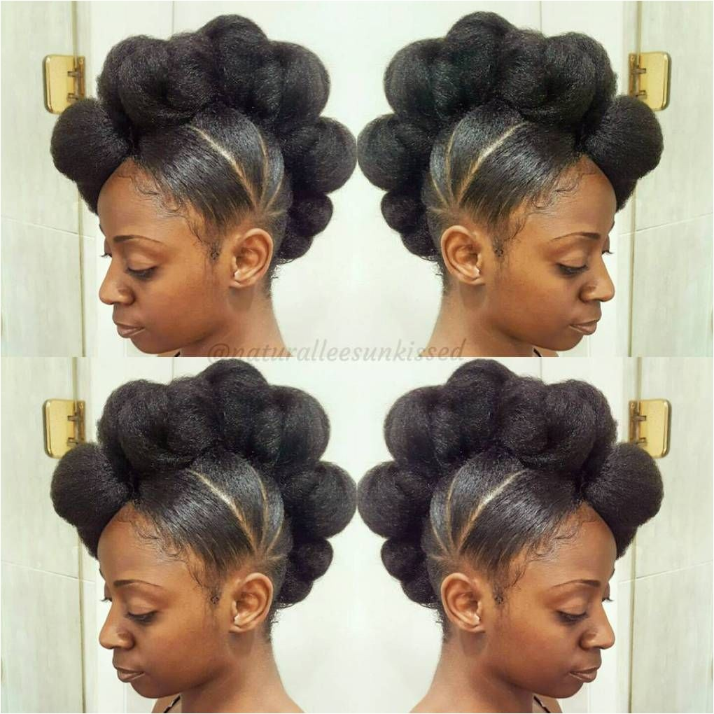 Black Knotted Mohawk Updo