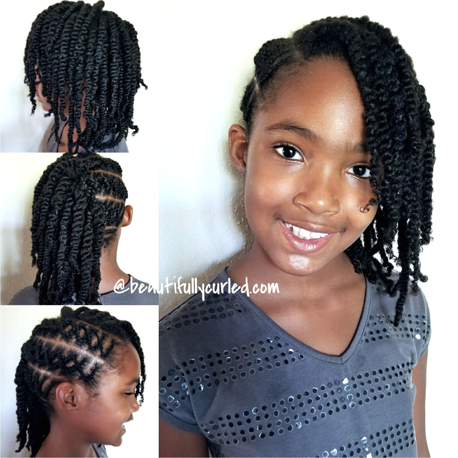 Criss Cross Cornrow Braids with Side Twists First Attempt naturalhair cornrows protectivestyles beautifullycurled
