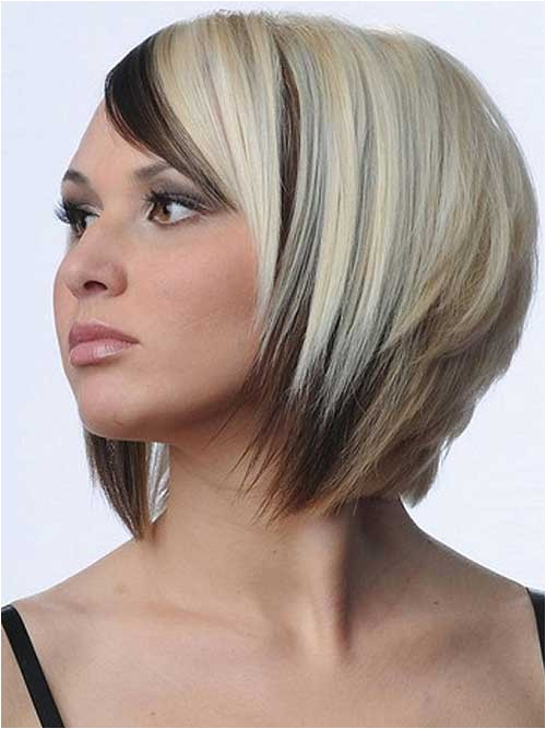 New Short Hairstyles and Colors Two Color Bob Hairstyle